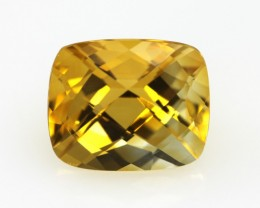 4.25cts Golden Yellow Citrine Cushion Checker Board Shape