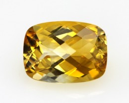 4.66cts Golden Yellow Citrine Cushion Checker Board Shape