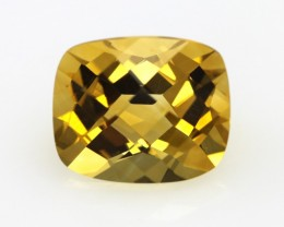 4.90cts Golden Yellow Citrine Cushion Checker Board Shape