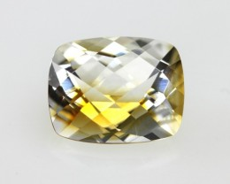 3.39cts Golden Yellow Citrine Cushion Checker Board Shape