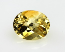 3.85cts Golden Yellow Citrine Oval Checker Board Shape