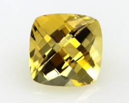 4.40cts Golden Yellow Citrine Cushion Checker Board Shape