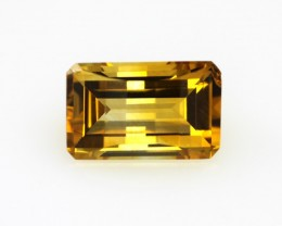 4.26cts Golden Yellow Citrine Emerald Cut