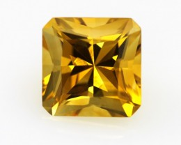 5.30cts Golden Yellow Citrine Radiant Cut