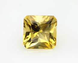 3.23cts Golden Yellow Citrine Radiant Cut