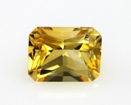 5.64cts Golden Yellow Citrine Radiant Cut