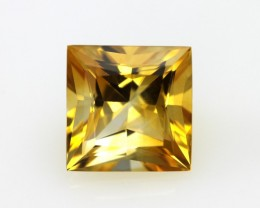 5.06cts Golden Yellow Citrine Princess Cut