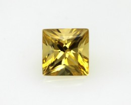 1.35cts Golden Yellow Citrine Princess Cut