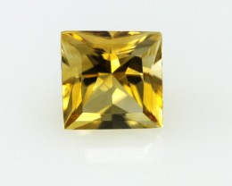 1.66cts Golden Yellow Citrine Princess Cut
