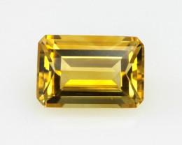 5.11cts Golden Yellow Citrine Emerald Cut