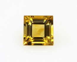 1.70cts Golden Yellow Citrine Square Shape