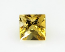 2.31cts Golden Yellow Citrine Princess Cut