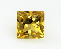 2.49cts Golden Yellow Citrine Princess Cut