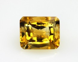 6.12cts Golden Yellow Citrine Octagonal Checker Board Shape