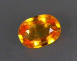 1.13Ct Natural Beryllium Heated African Orangish Yellow Sapphire