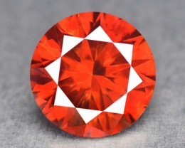 0.12 Cts Natural Orangesh Red Diamond Round Africa