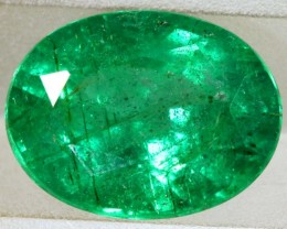 2.41CTS EMERALD FACETED GREEN STONE  PG-2057