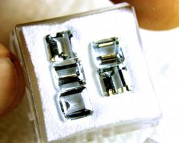 6.09 Carat VS Aquamarine Accent Gems, 5 Pcs., 6.2mm
