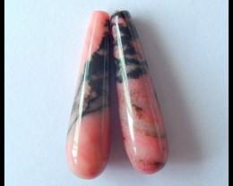 Natural Rhodonite Earring Beads,30x8mm,31.5ct(17041505)