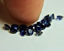 2.98 Tcw. Midnight Blue Sapphire Accents - 3mm - 18pcs.