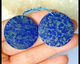 Natural Lapis Lazuli Round Earrings,29x2mm,47.5ct(17041605)