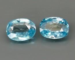 Natural Zircon - 3,69 carats - Pairs