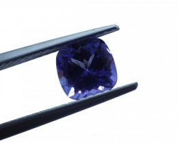 1.22 ct Square Cushion IGI Certified Tanzanite