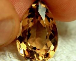 1$NR - 19.4 Carat Golden Brown Brazil VVS Topaz - Gorgeous