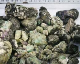 696g Australian Curlew Mine Emerald rough Specimens PPP 37