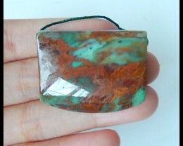 Natural Green Opal Necklace Pendant Bead,35x27x9mm,81.5ct(17041903)