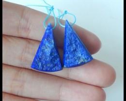 Natural Nugget Lapis Lazuli Earrings,24x16x8mm,39.5ct(17041907)