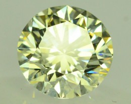 2.10 ct Natural Yellow Diamond Round Brilliant Cut