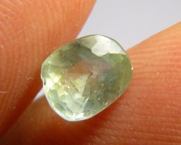 1.45ct Green Ceylon Sapphire , 100% Natural Untreated Gemstone