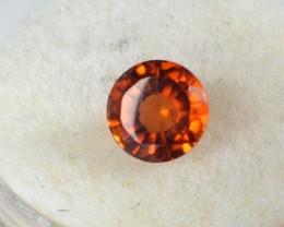 1.18 Carat Round Cut Reddish Orange Hessonite Garnet