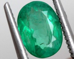 1.03CTS CERTIFIED  BRAZIL EMERALD FACETED  TBM-1095