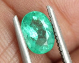 0.65CTS CERTIFIED  BRAZIL EMERALD FACETED  TBM-1098