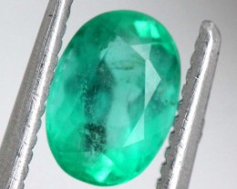 0.89 CTSCERTIFIED   BRAZIL EMERALD FACETED  TBM-1101