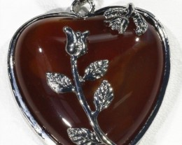 85cts Carnelium heart pendant PPP1216