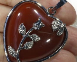 85cts Carnelium heart pendant PPP1218