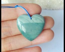 Natural Wave Jasper Heart Pendant,25x24x7mm,30ct(17042002)