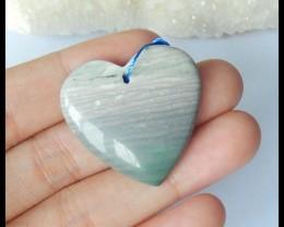 Natural Wave Jasper Heart Pendant,30x29x7mm,45.5ct(17042007)