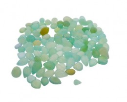 646.5 cts 118 beads Seafoam Green Chalcedony Bead Lot