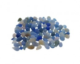630 cts 112 beads Blue Chalecedony Bead Lot