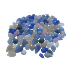 795 cts 135 beads Blue Chalecedony Bead Lot