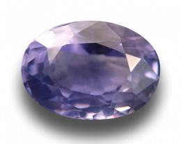 1.9 Carats Natural Unheated violet sapphire|Loose Gemstone|New Certified| S