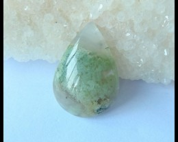 Natural Moss Agate Water Drop Cabochon,29x20x7mm,30ct(17042104)