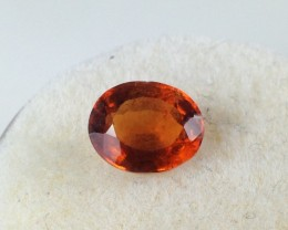 1.27 Carat Oval Cut Reddish Orange Hessonite Garnet