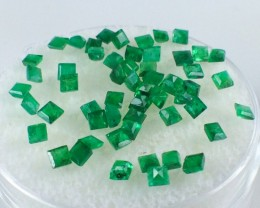 2.04 ct Emerald - Parcel of Zambian Square Cut