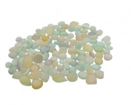 568 cts 128 beads Clear Chalcedony Bead Lot