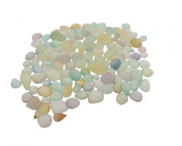 565 cts 129 beads Clear Chalcedony Bead Lot